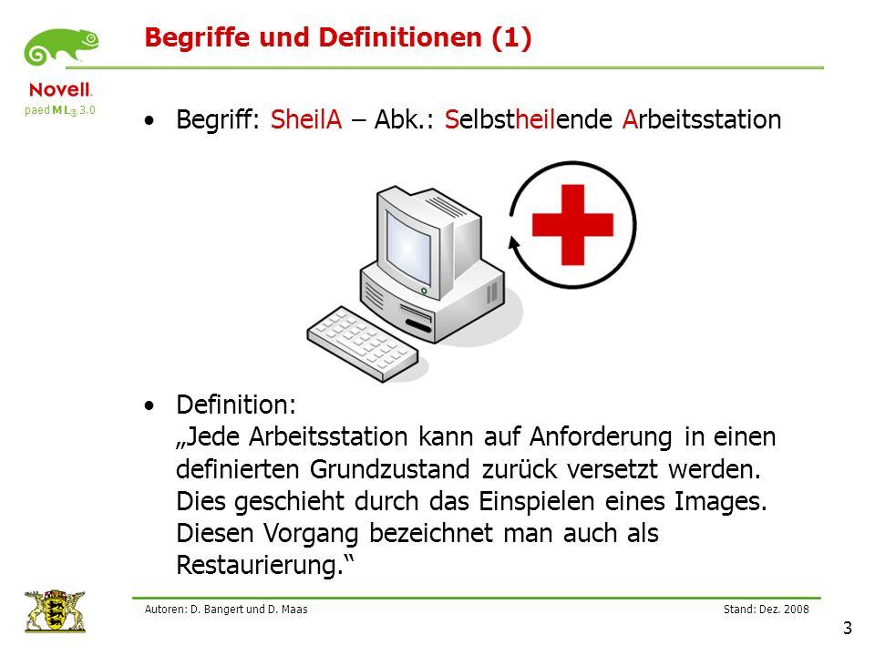 paed M L ® 3.0 Stand: Dez.2008 3 Autoren: D. Bangert und D.