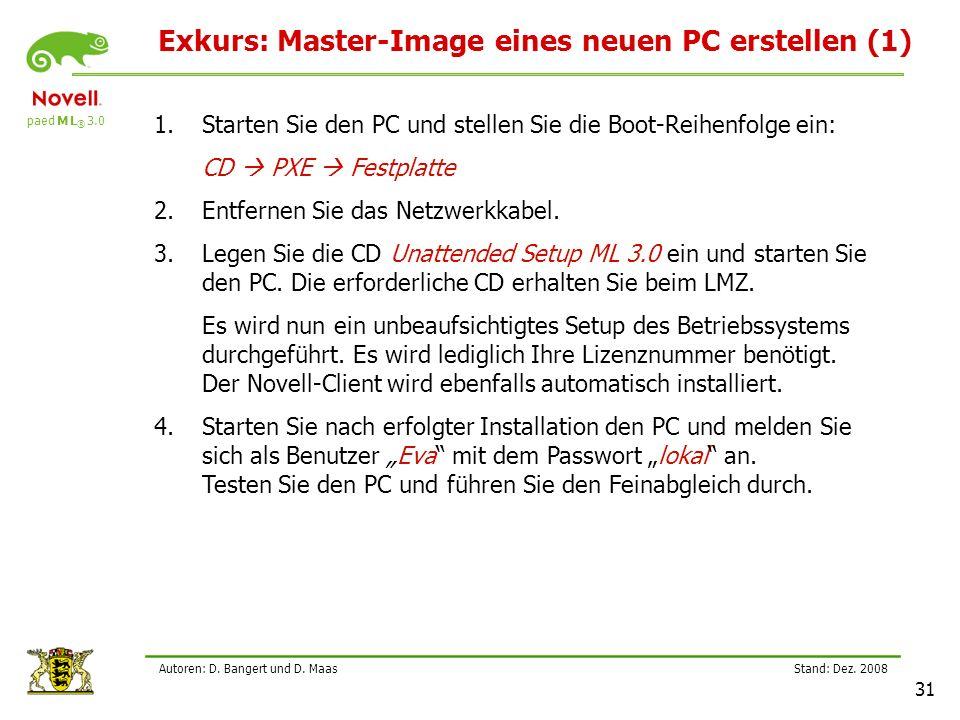 paed M L ® 3.0 Stand: Dez.2008 31 Autoren: D. Bangert und D.