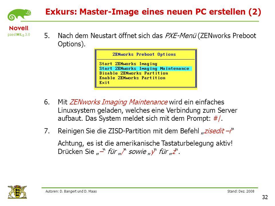 paed M L ® 3.0 Stand: Dez.2008 32 Autoren: D. Bangert und D.