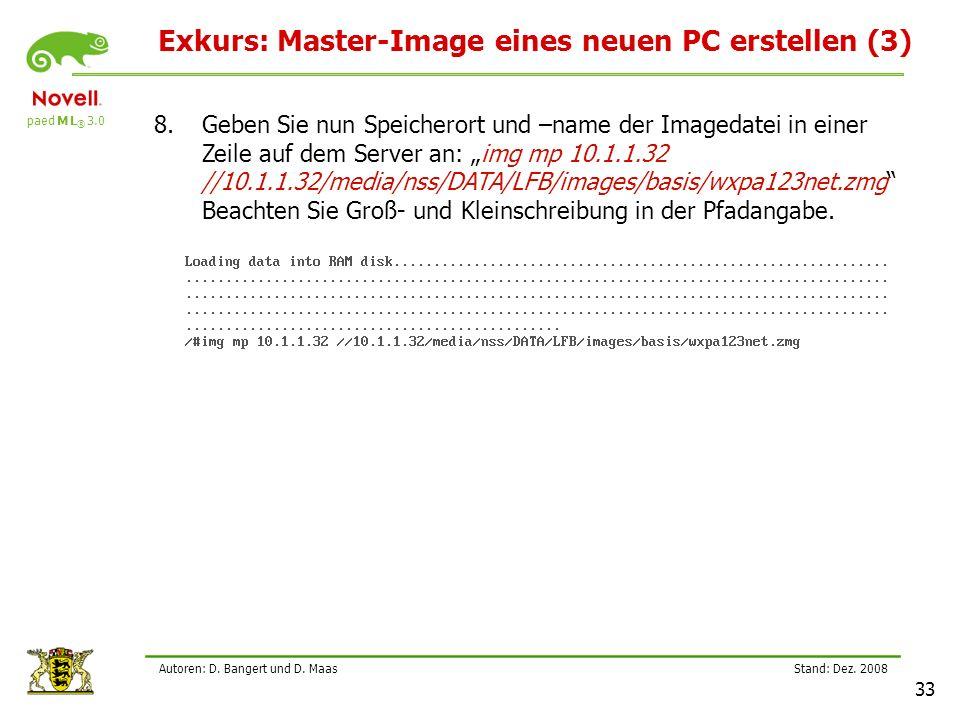 paed M L ® 3.0 Stand: Dez.2008 33 Autoren: D. Bangert und D.