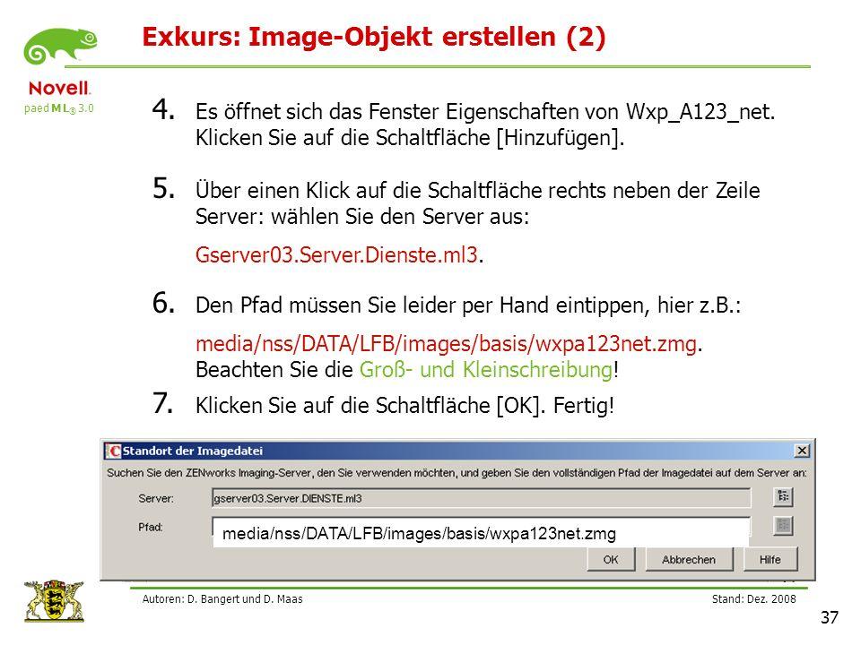 paed M L ® 3.0 Stand: Dez.2008 37 Autoren: D. Bangert und D.