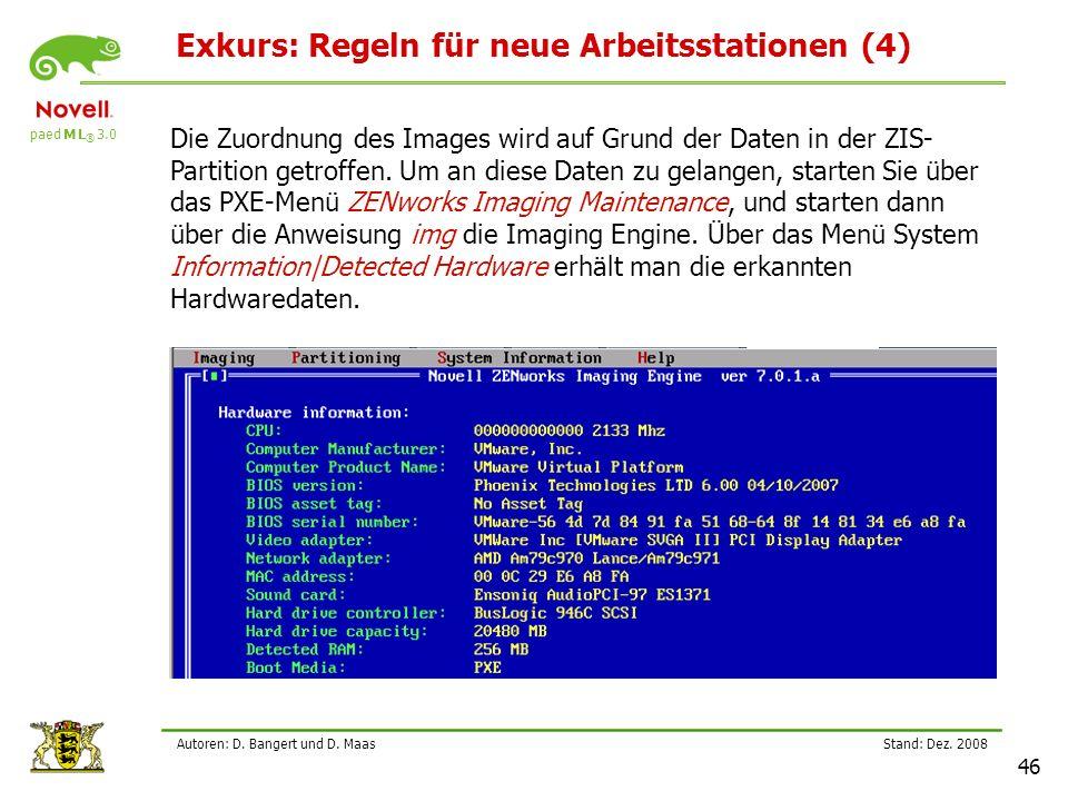 paed M L ® 3.0 Stand: Dez.2008 46 Autoren: D. Bangert und D.