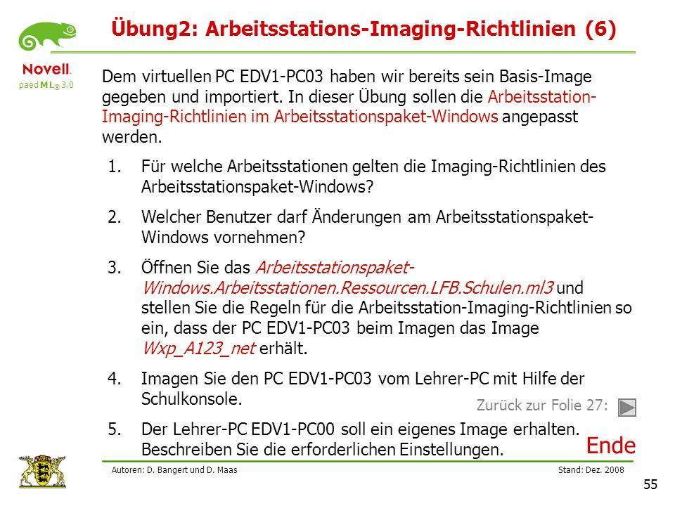 paed M L ® 3.0 Stand: Dez.2008 55 Autoren: D. Bangert und D.