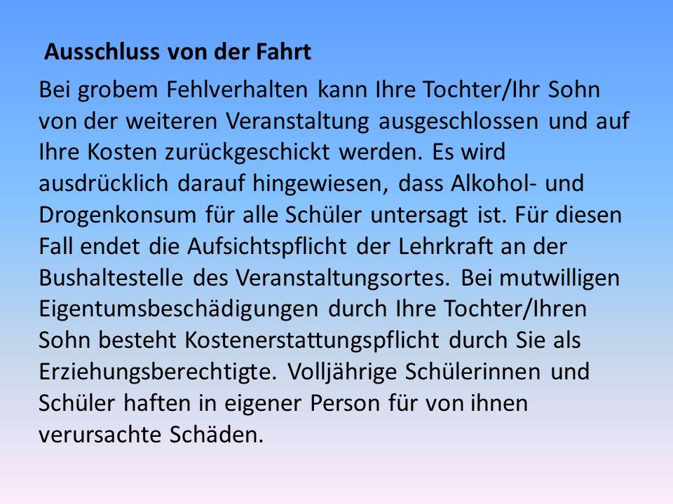 Nützliche Links www.schullandheim.de www.jugendherberge.de www.jugendherberge-bw.de/sites/schulen- lehrer.html www.klassenfahrt-planen.de www.erlebnistage.de (Erlebnispädagogik / Fortbildungen für Lehrer) www.jugendoffizier.de jugendoffizierkarlsruhe1@bundeswehr.org