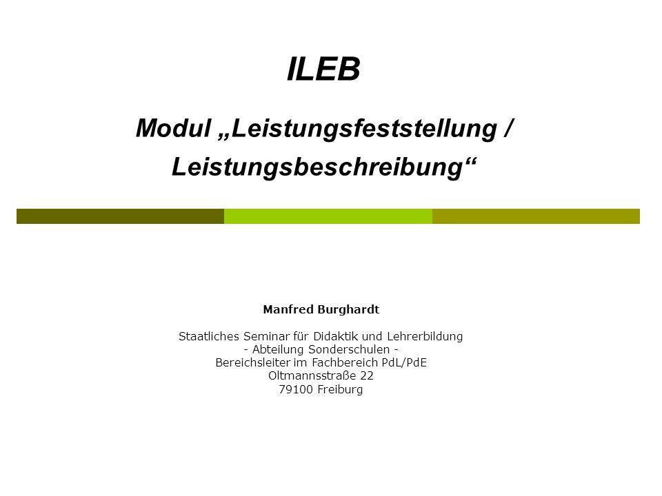 Manfred Burghardt Staatliches Seminar für Didaktik und Lehrerbildung - Abteilung Sonderschulen - Bereichsleiter im Fachbereich PdL/PdE Oltmannsstraße