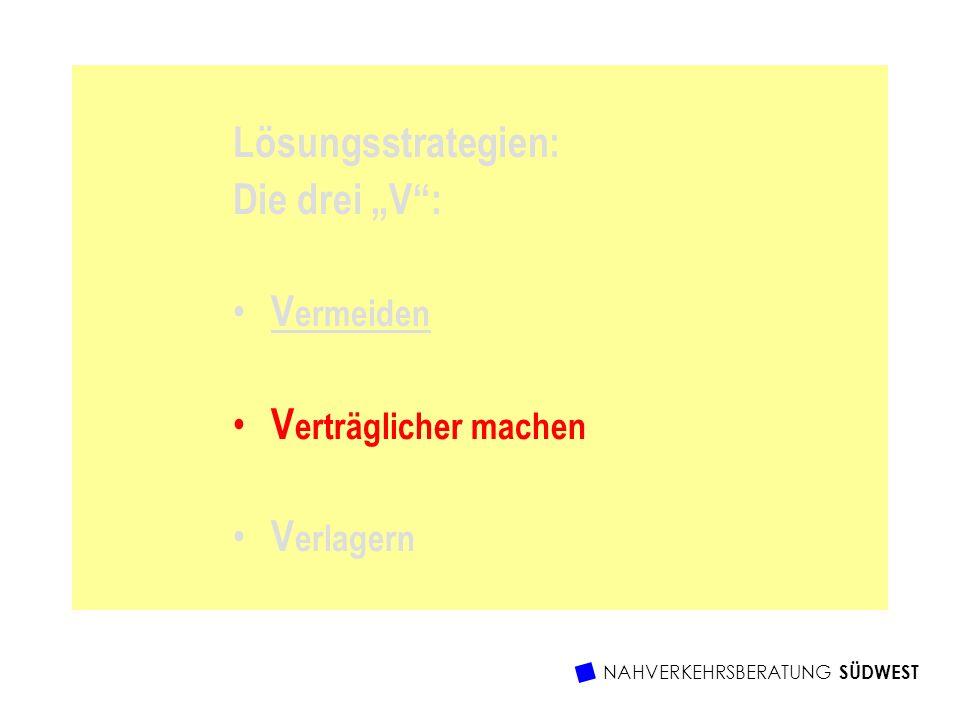 Lösungsstrategien: Die drei V: V ermeiden V erträglicher machen V erlagern