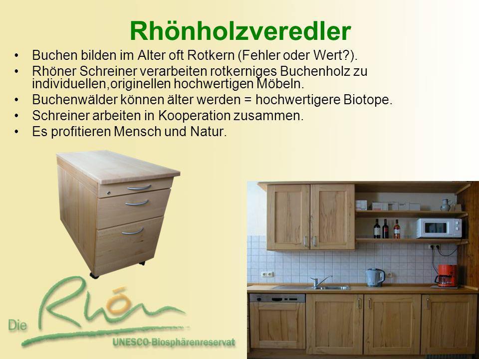 Rhönholzveredler Buchen bilden im Alter oft Rotkern (Fehler oder Wert?). Rhöner Schreiner verarbeiten rotkerniges Buchenholz zu individuellen,originel