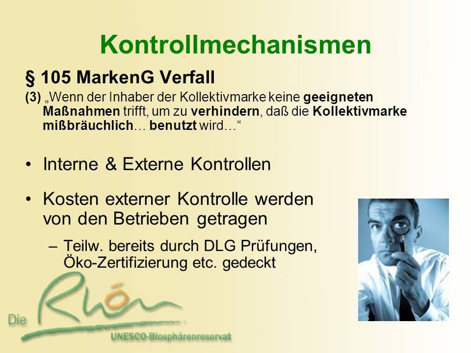 § 105 MarkenG Verfall (3) Wenn der Inhaber der Kollektivmarke keine geeigneten Maßnahmen trifft, um zu verhindern, daß die Kollektivmarke mißbräuchlic