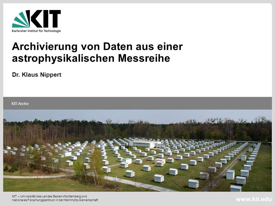 Fügen Sie auf der Masterfolie ein frei wählbares Bild ein (z.B. passend zum Vortrag) KIT – Universität des Landes Baden-Württemberg und nationales For