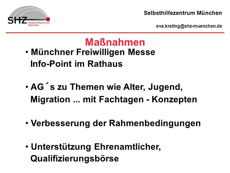 Münchner Freiwilligen Messe Info-Point im Rathaus AG´s zu Themen wie Alter, Jugend, Migration... mit Fachtagen - Konzepten Verbesserung der Rahmenbedi