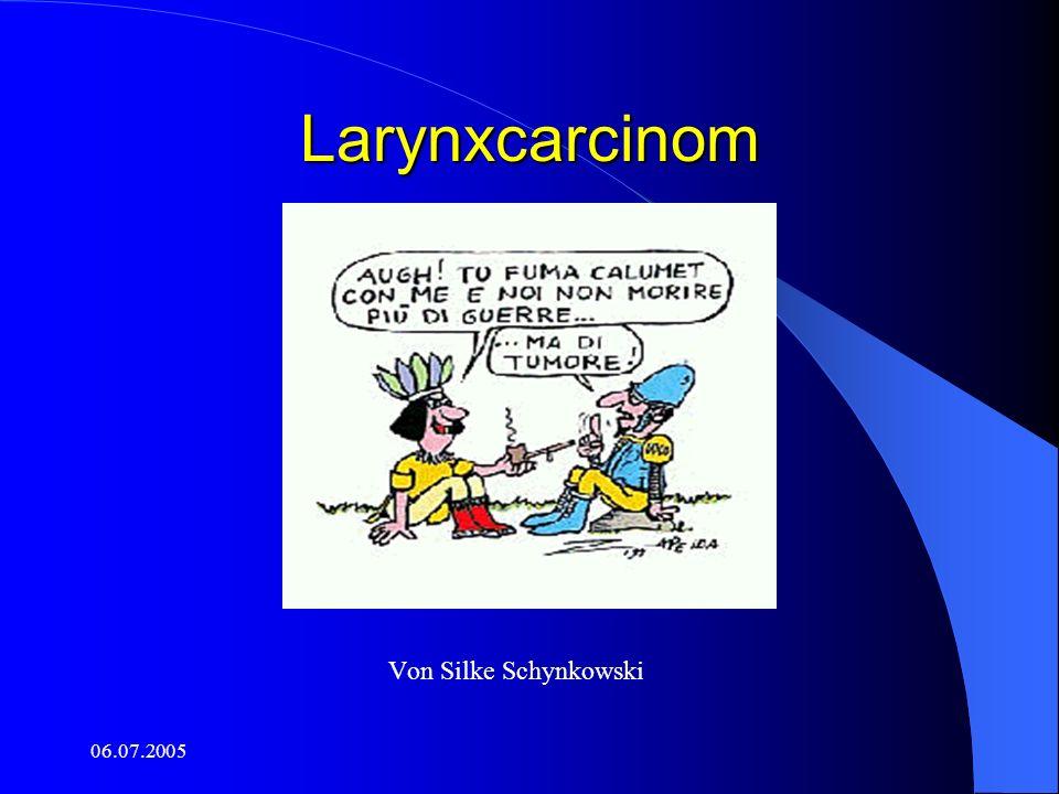 06.07.2005 Folgen der Laryngektomie Tracheostoma-Anlage.