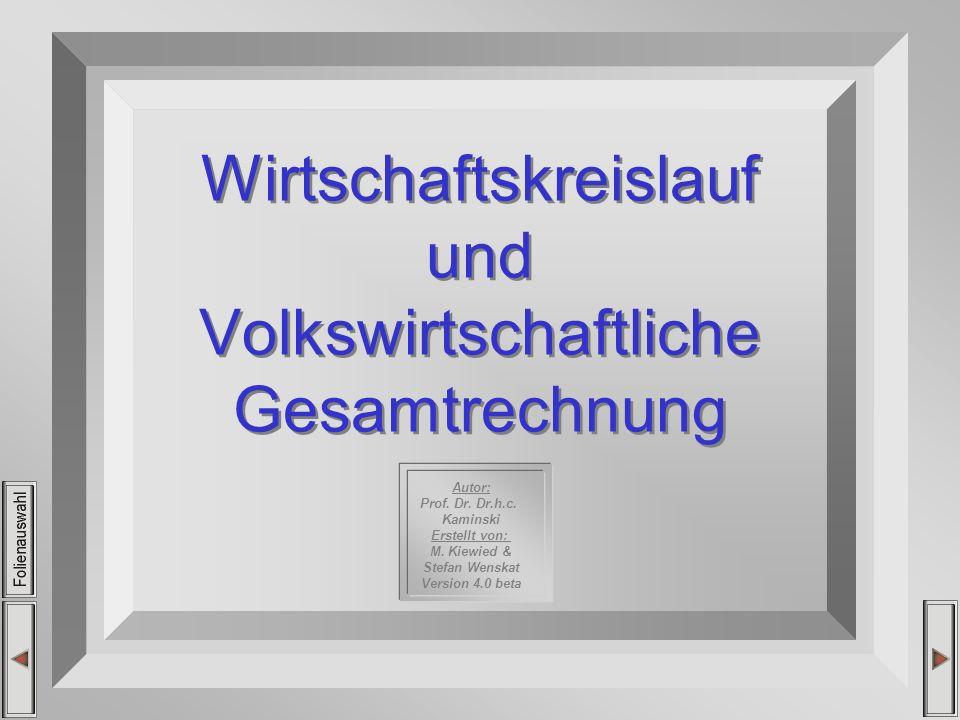 Autor: Prof. Dr. Dr.h.c. Kaminski Erstellt von: M. Kiewied & Stefan Wenskat Version 4.0 beta Wirtschaftskreislauf und Volkswirtschaftliche Gesamtrechn