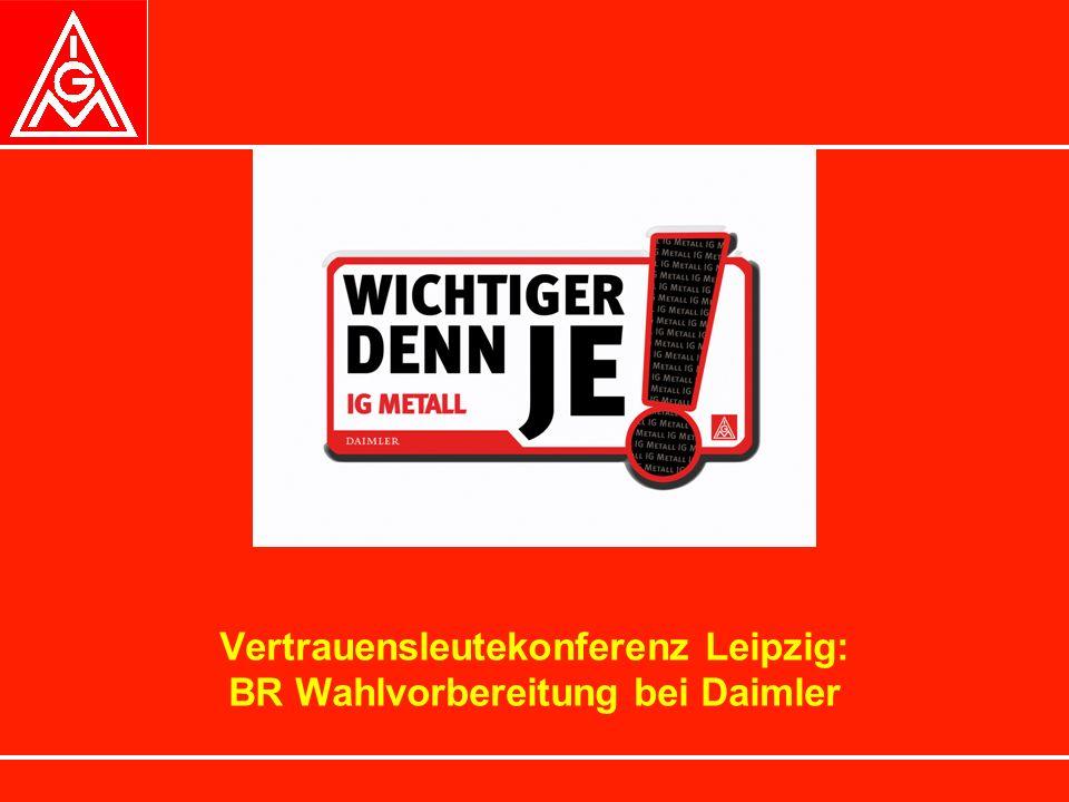 Vertrauensleutekonferenz Leipzig: BR Wahlvorbereitung bei Daimler