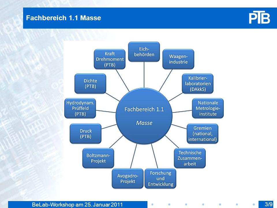 BeLab-Workshop am 25. Januar 2011 Fachbereich 1.1 Masse 3/9
