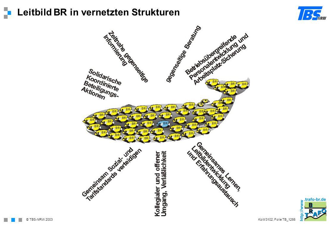 © TBS-NRW 2003 Leitbild BR in vernetzten Strukturen KoW3102; Folie TB_1266