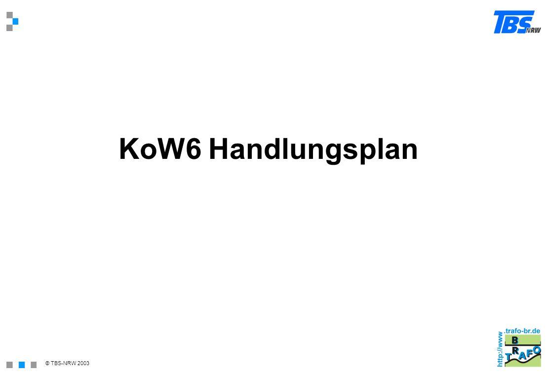 © TBS-NRW 2003 KoW6 Handlungsplan