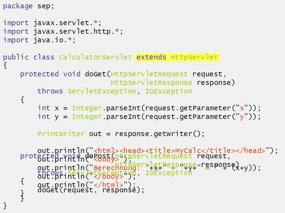 06.02.2003SEP SS 2003 - Technische Einführung15 Sessionverwaltung Problem: Viele Benutzer kommunizieren gleichzeitig mit dem Server Welche Requests gehören zu welchem Benutzer.