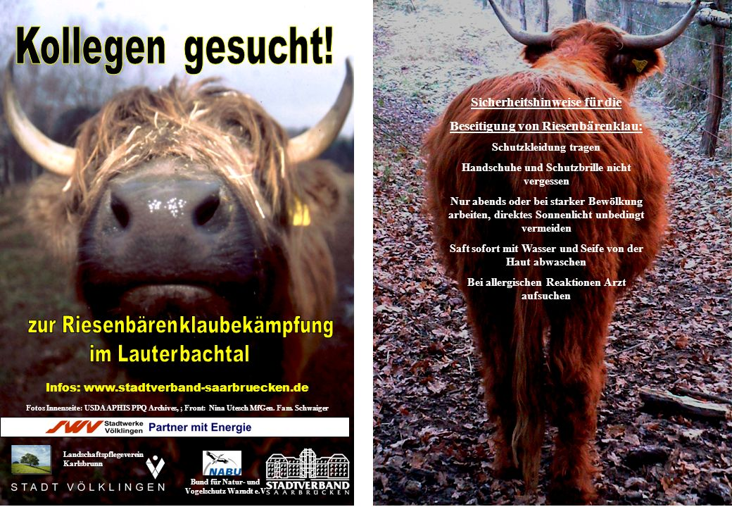 Fotos Innenseite: USDA APHIS PPQ Archives, ; Front: Nina Utesch MfGen. Fam. Schwaiger Landschaftspflegeverein Karlsbrunn Bund für Natur- und Vogelschu