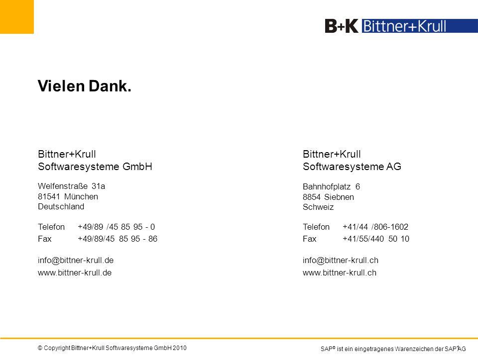 © Copyright Bittner+Krull Softwaresysteme GmbH 201018 Vielen Dank. info@bittner-krull.de www.bittner-krull.de Bittner+Krull Softwaresysteme GmbH Welfe