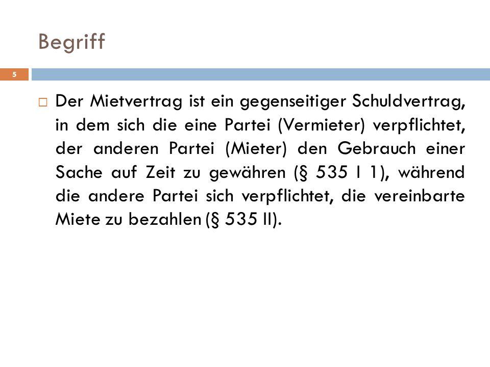 Mietminderung § 536 I 2 BGH, Urt.v. 6. 4.