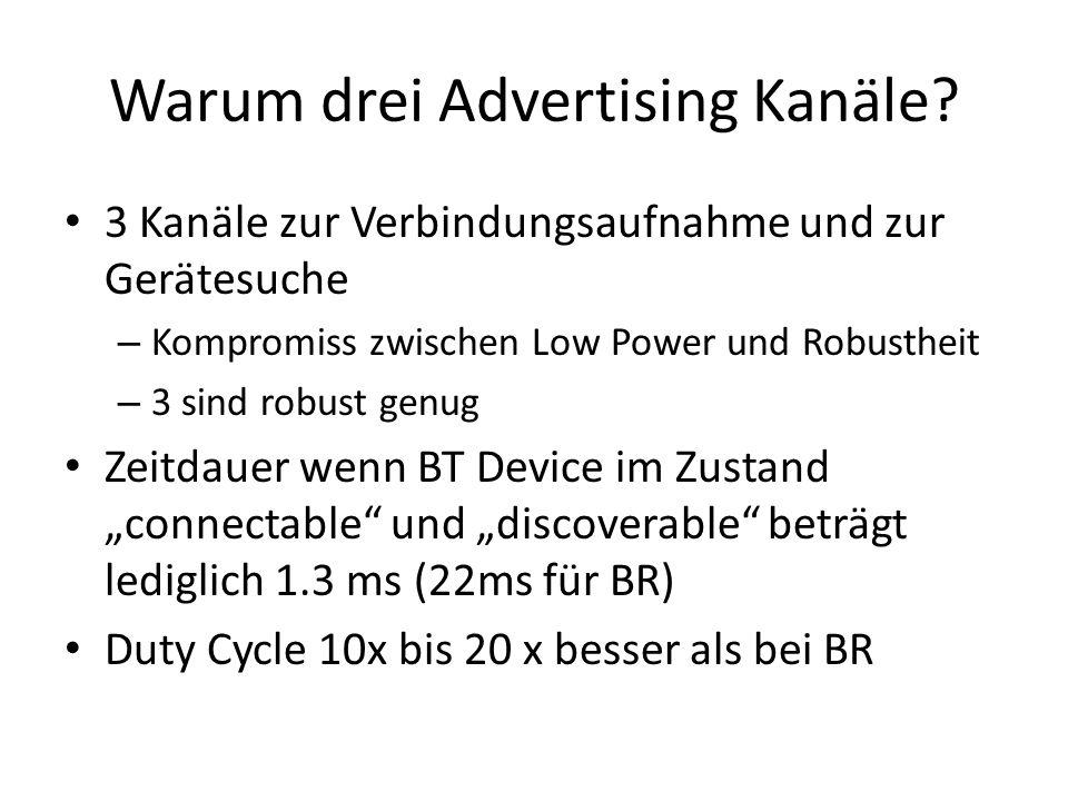 Warum drei Advertising Kanäle.