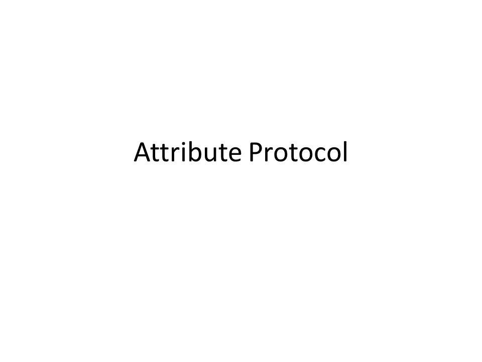 Attribute Protocol
