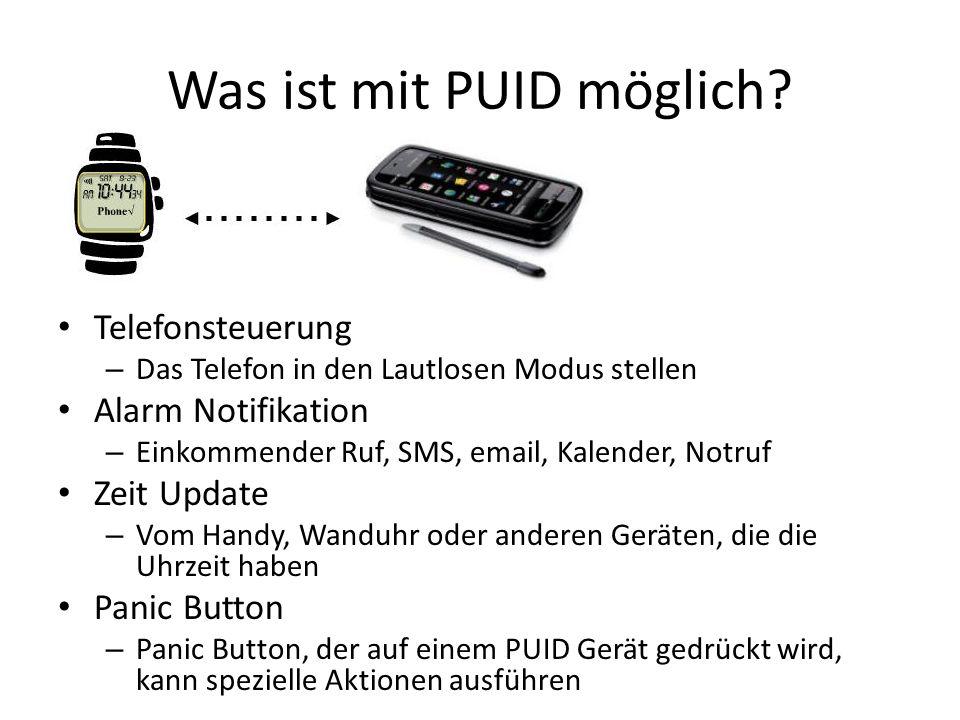 Was ist mit PUID möglich.