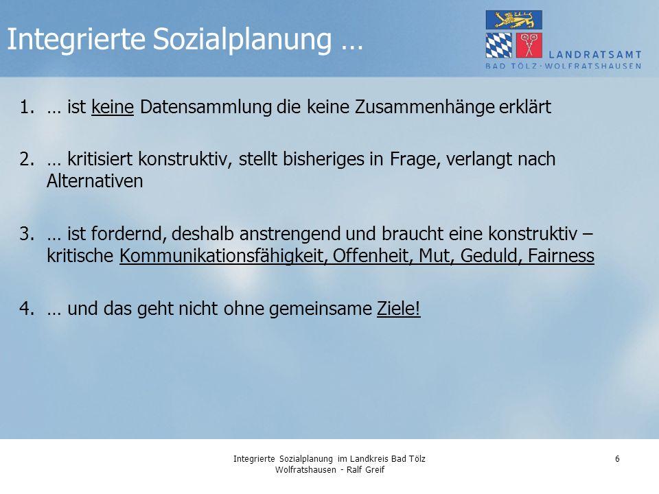 Integrierte Sozialplanung im Landkreis Bad Tölz Wolfratshausen - Ralf Greif 17 Wer ist alles für die Daseinsvorsorge von Max zuständig.