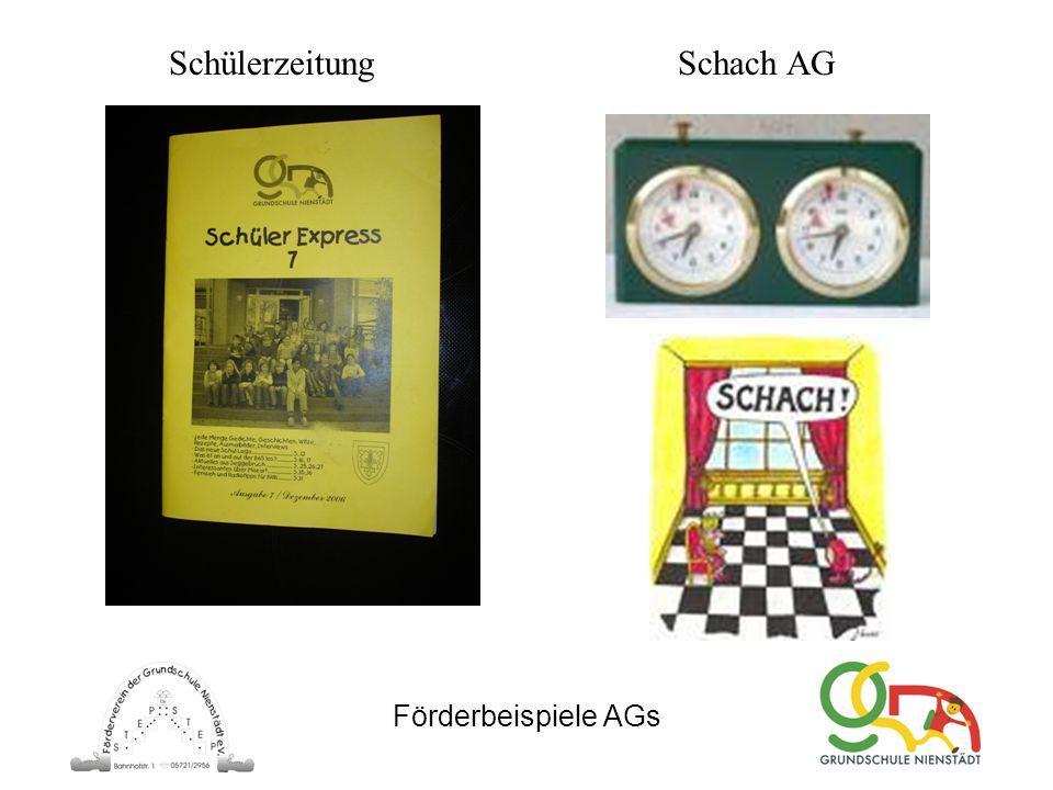 Förderbeispiele AGs Schach AGSchülerzeitung