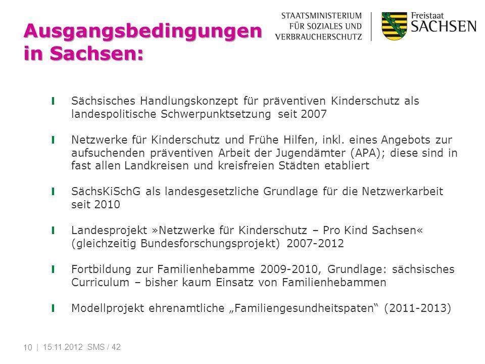 Ausgangsbedingungen in Sachsen: Sächsisches Handlungskonzept für präventiven Kinderschutz als landespolitische Schwerpunktsetzung seit 2007 Netzwerke