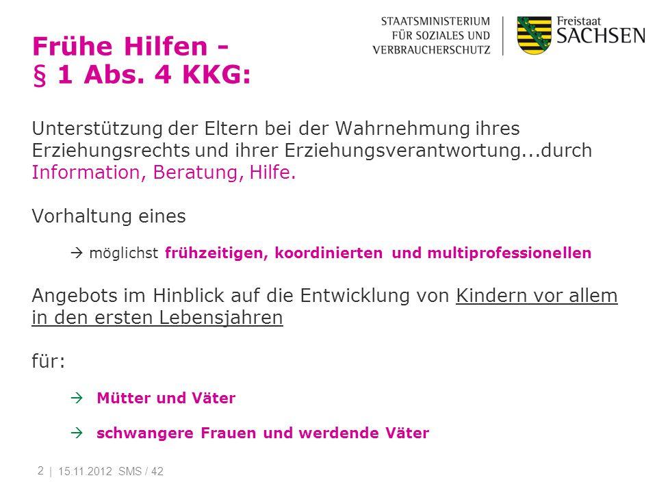 Frühe Hilfen - § 1 Abs. 4 KKG: Unterstützung der Eltern bei der Wahrnehmung ihres Erziehungsrechts und ihrer Erziehungsverantwortung...durch Informati