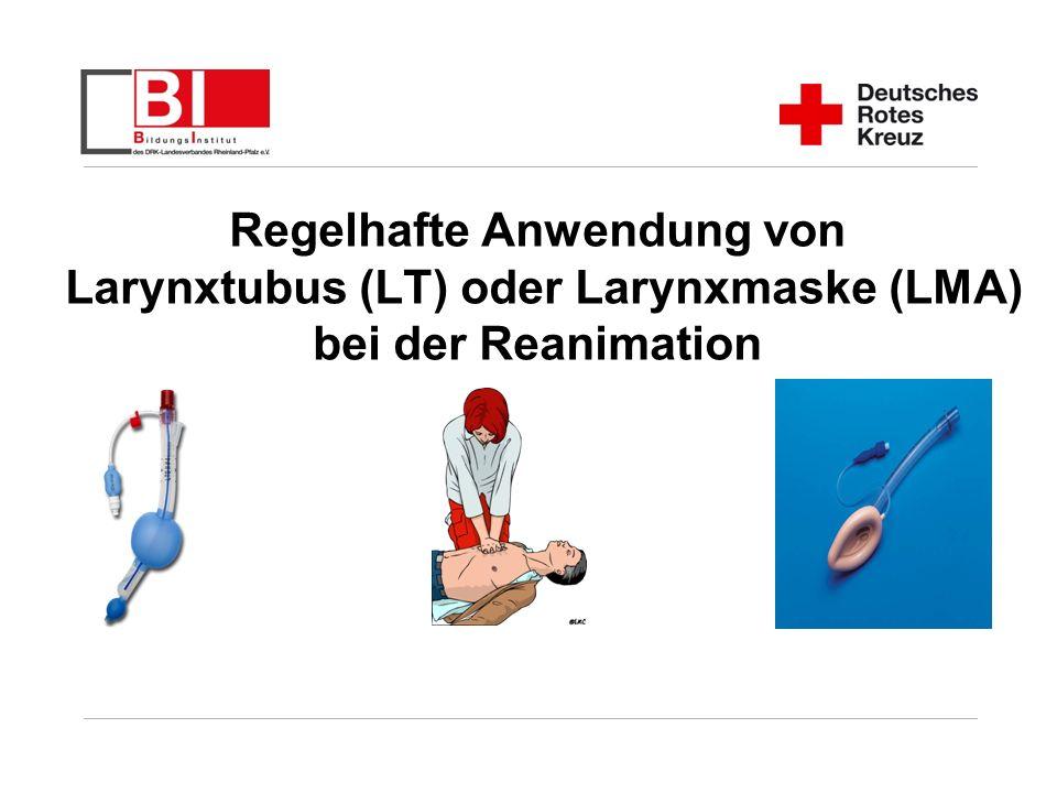 Folie 2 LT / LMA Fortbildung 2008 Beatmung und Atemwegssicherung im Rahmen der Reanimation Grundsätzlich stellt die endotracheale Intubation den wünschenswerten Goldstandard der Atemwegssicherung dar.