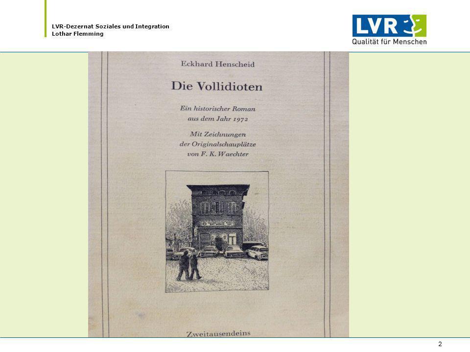 LVR-Dezernat Soziales und Integration Lothar Flemming 2