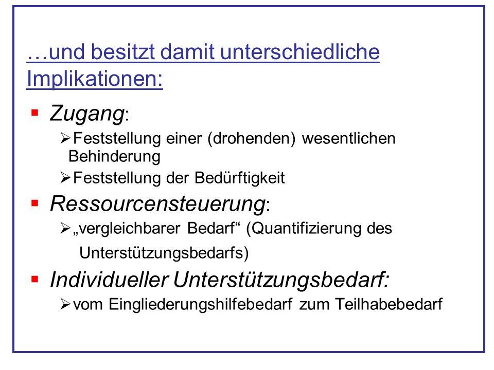 (Deutscher Verein) Grundsätze: Ergebnisoffene Bedarfsfeststellung und Hilfeplanung (Personenzentrierung) Zielorientierung (des betreffenden Menschen) ICF- Bezug und Ressourcenorientierung