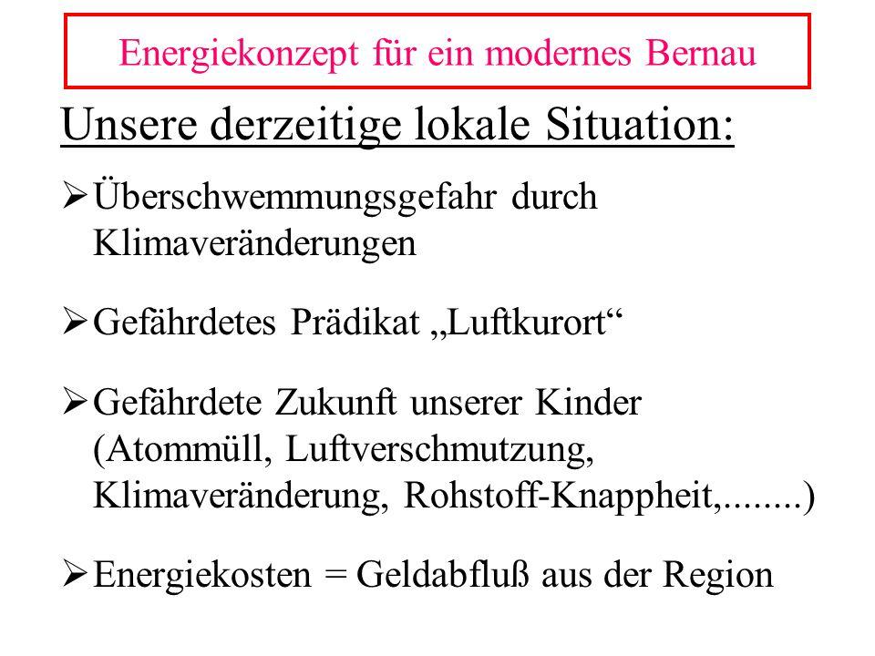 Unsere derzeitige lokale Situation: Überschwemmungsgefahr durch Klimaveränderungen Gefährdetes Prädikat Luftkurort Gefährdete Zukunft unserer Kinder (