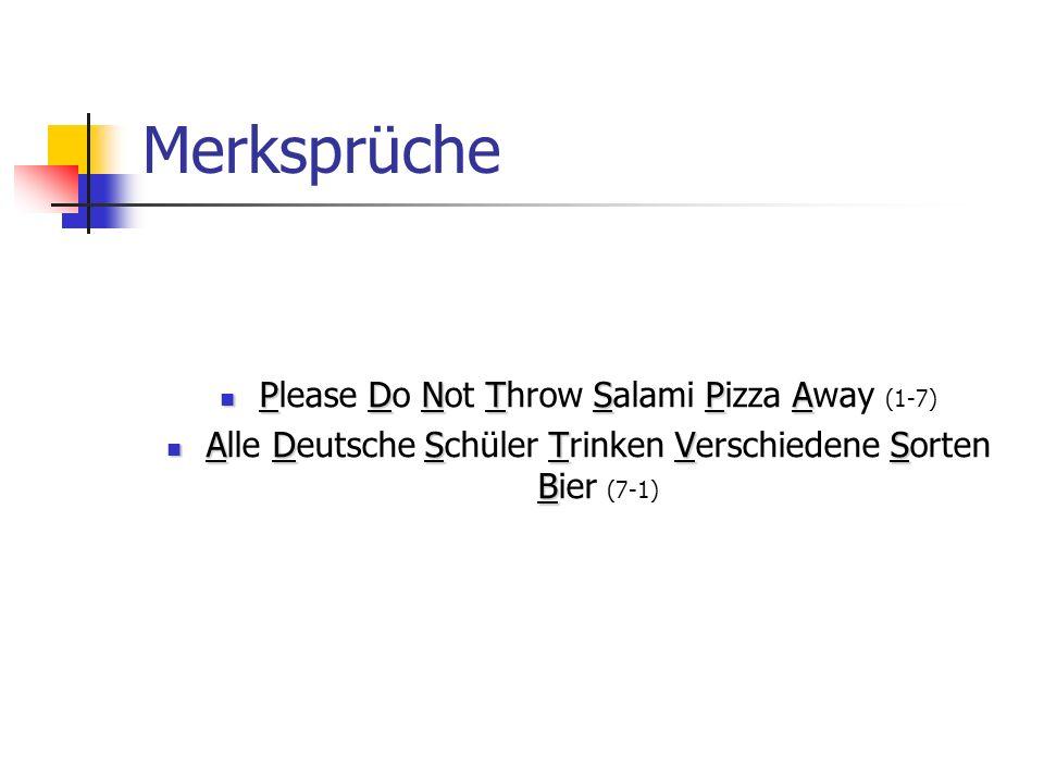 Merksprüche PDNTSPA Please Do Not Throw Salami Pizza Away (1-7) ADSTVS B Alle Deutsche Schüler Trinken Verschiedene Sorten Bier (7-1)