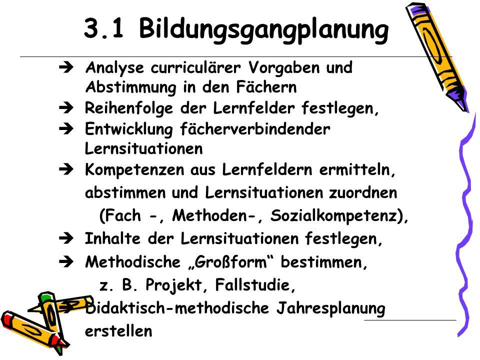 3 Aufgabenbereiche zur Umsetzung der Lehrpläne
