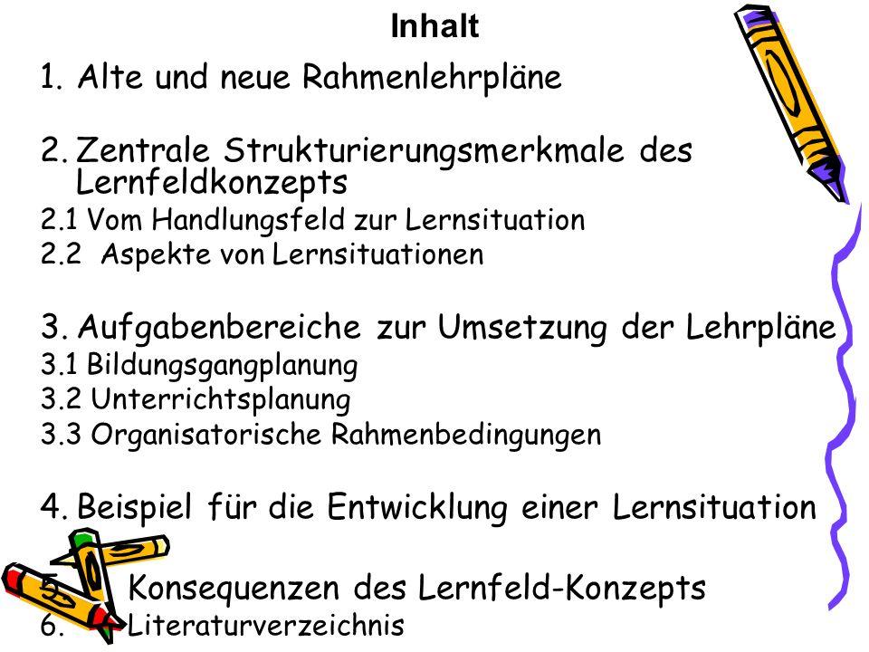 Studienseminar für Lehrämter an Schulen Bielefeld II -Seminar für das Lehramt an Berufskollegs- Referat zum Thema: Lernfeldkonzept Studienreferendarin
