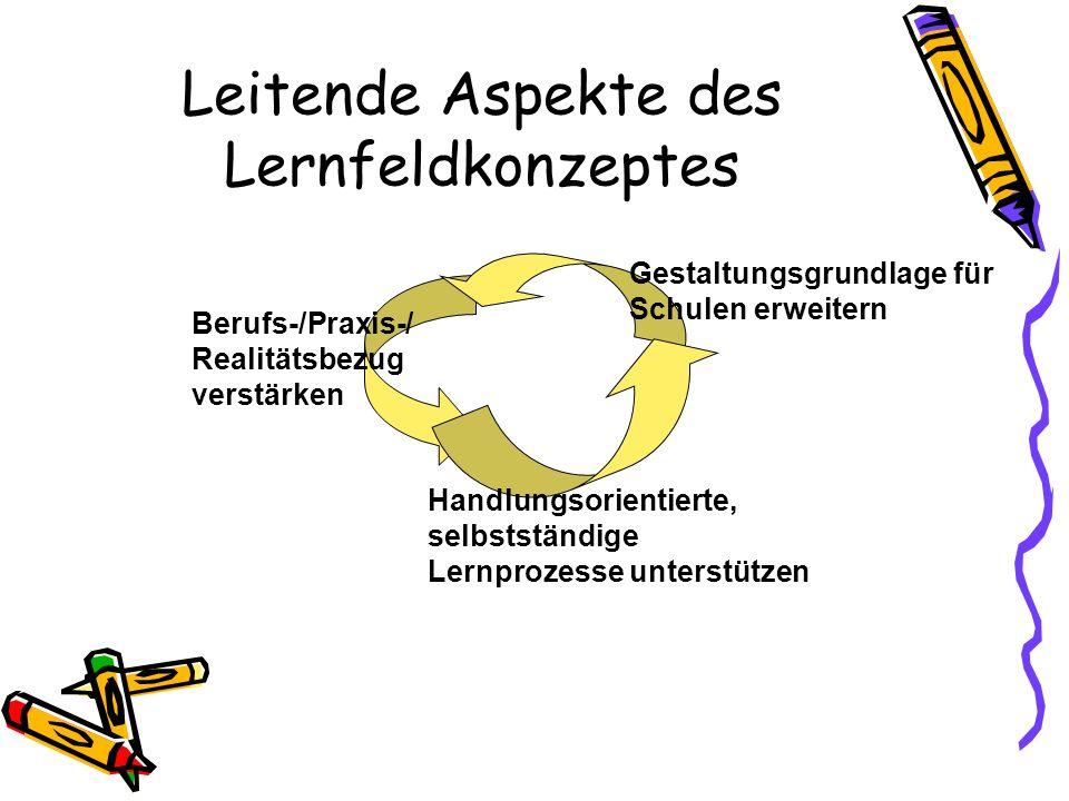 1 Alte und neue Rahmenlehrpläne - Das Lernfeldkonzept- Seit Mai 1996 werden die bundesweit gültigen KMK-Rahmenlehrpläne für alle neuen und Neugeordnet