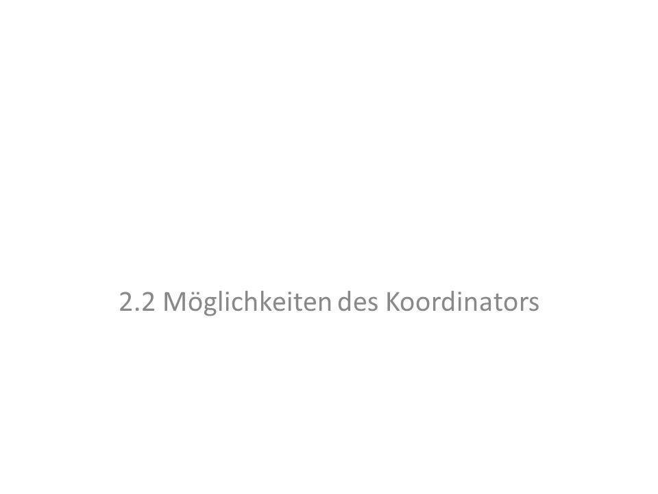 2.2 Möglichkeiten des Koordinators