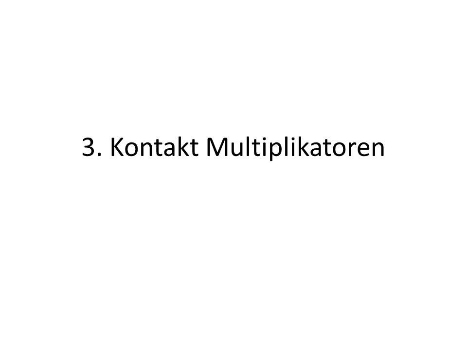 3. Kontakt Multiplikatoren
