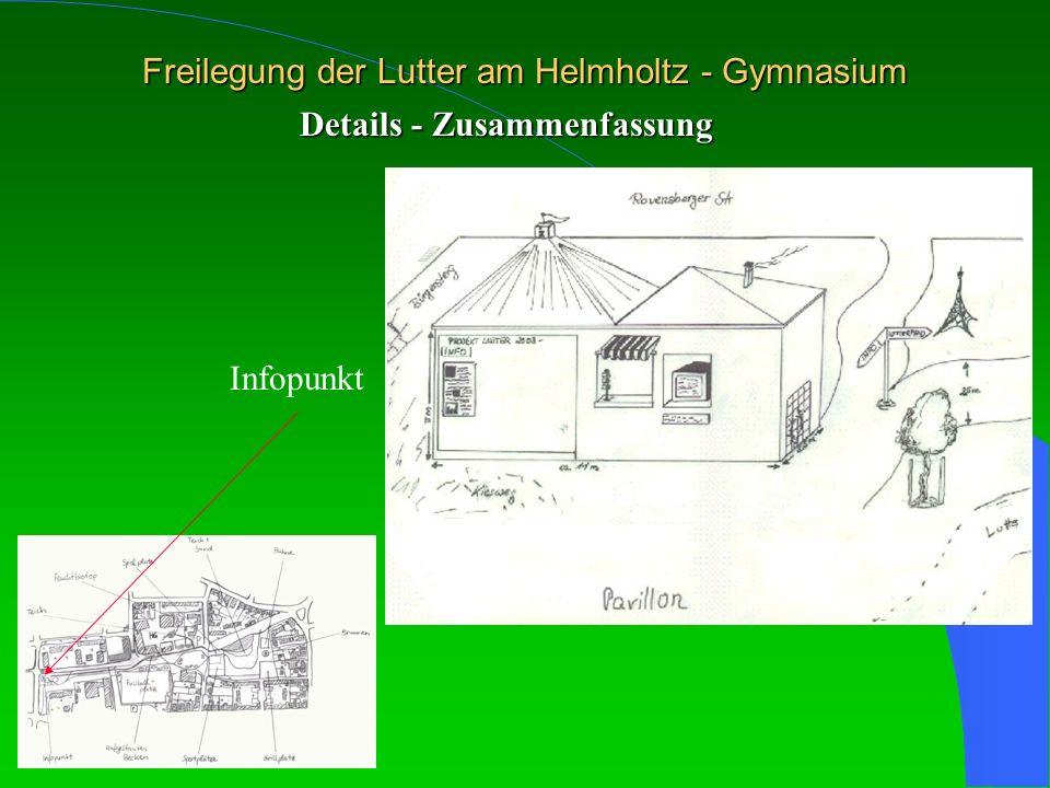 Freilegung der Lutter am Helmholtz - Gymnasium Details - Zusammenfassung Infopunkt