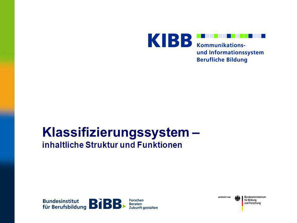 ® 2 KIBBKIBB – Klassifizierungssystem – Entwicklungszusammenarbeit Koordination, Weiterentwicklung, technische Implementierung Fachgebiet Berufspädagogik Datenbanken, Internet fachl.