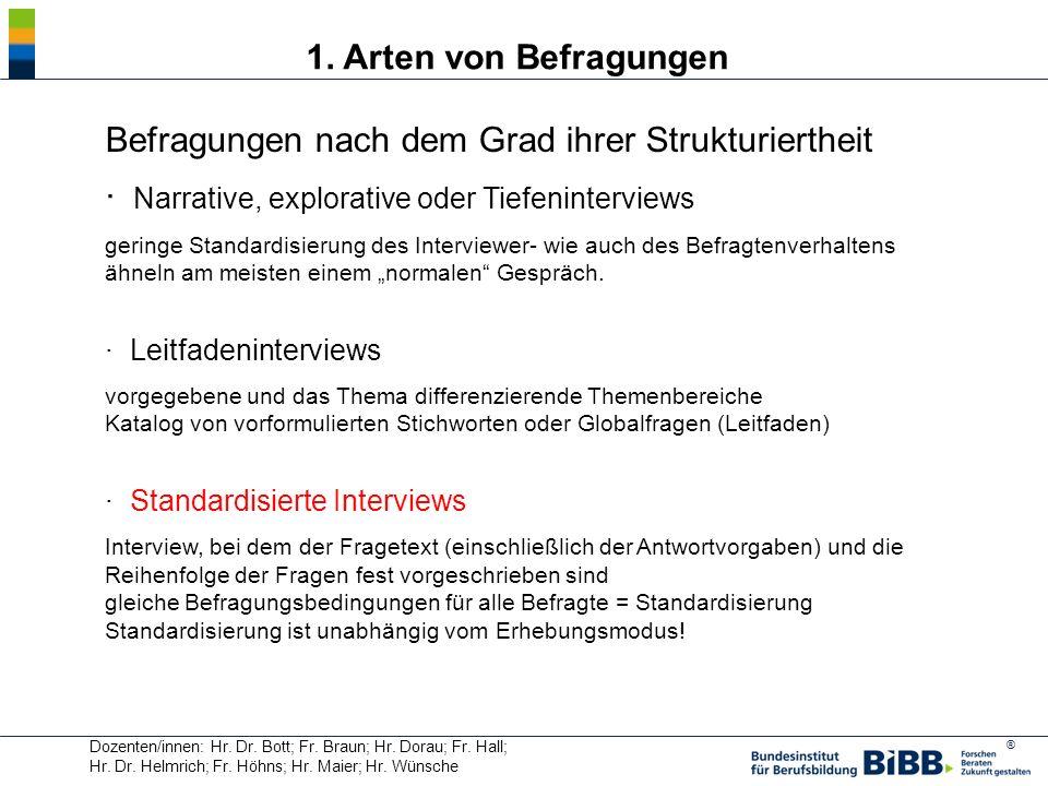 ® Das Interview ist kein neutrales Erhebungsinstrument, u.a.