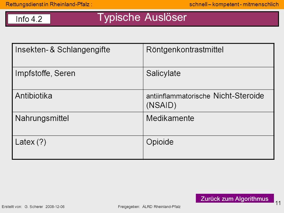 Rettungsdienst in Rheinland-Pfalz : schnell – kompetent - mitmenschlich Erstellt von: G. Scherer 2008-12-06Freigegeben: ÄLRD Rheinland-Pfalz 11 Typisc