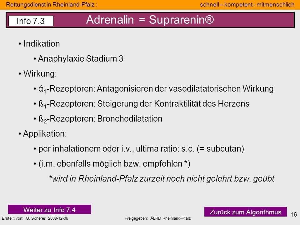 Rettungsdienst in Rheinland-Pfalz : schnell – kompetent - mitmenschlich Erstellt von: G. Scherer 2008-12-06Freigegeben: ÄLRD Rheinland-Pfalz 16 Adrena