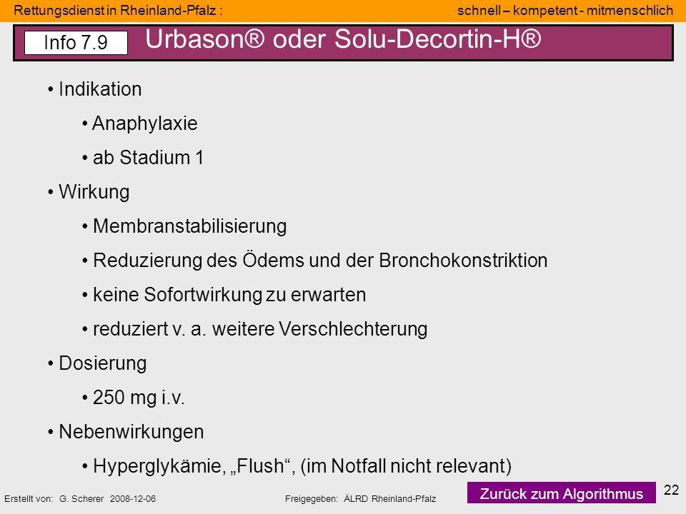 Rettungsdienst in Rheinland-Pfalz : schnell – kompetent - mitmenschlich Erstellt von: G. Scherer 2008-12-06Freigegeben: ÄLRD Rheinland-Pfalz 22 Indika