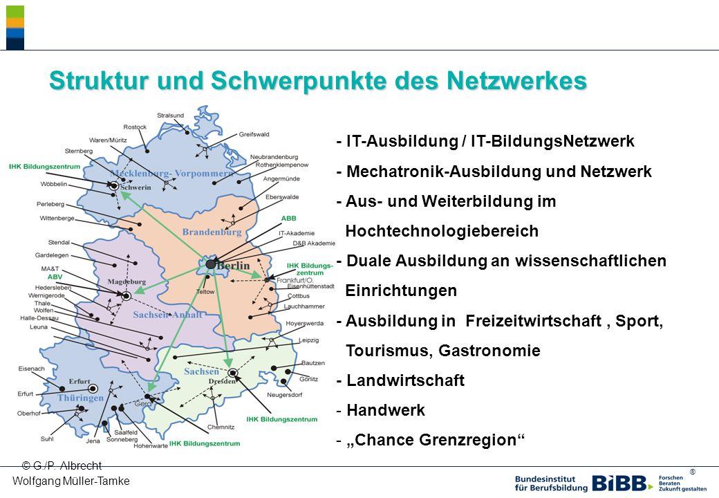 ® Wolfgang Müller-Tamke © G./P. Albrecht Struktur und Schwerpunkte des Netzwerkes - IT-Ausbildung / IT-BildungsNetzwerk - Mechatronik-Ausbildung und N