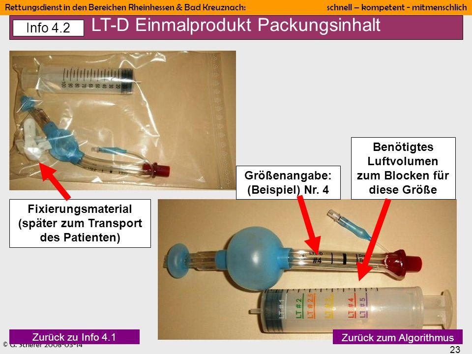 © G. Scherer 2008-03-14 23 Rettungsdienst in den Bereichen Rheinhessen & Bad Kreuznach: schnell – kompetent - mitmenschlich Größenangabe: (Beispiel) N