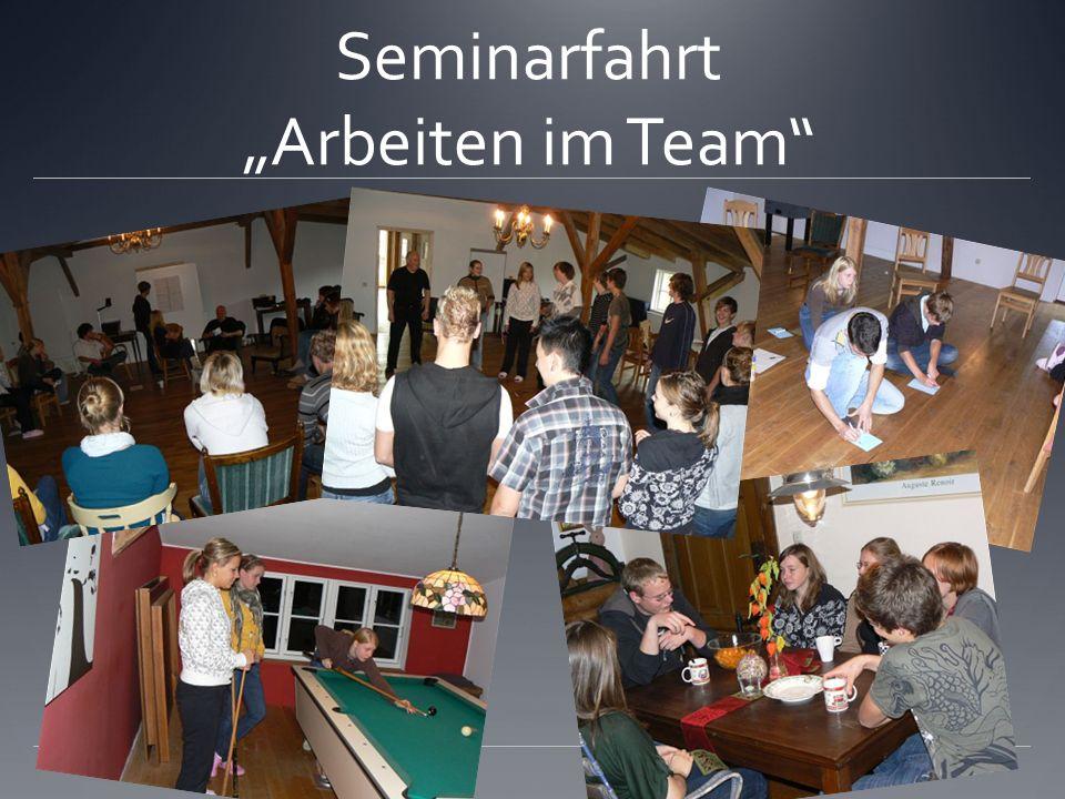 Seminarfahrt Arbeiten im Team